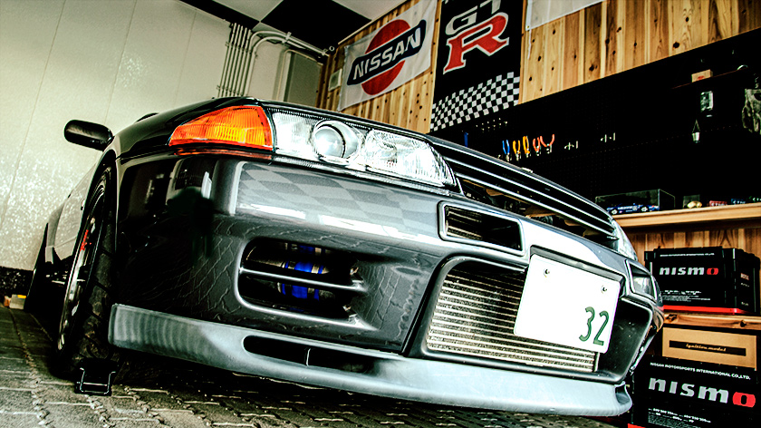 ガレージのスカイラインGT-R