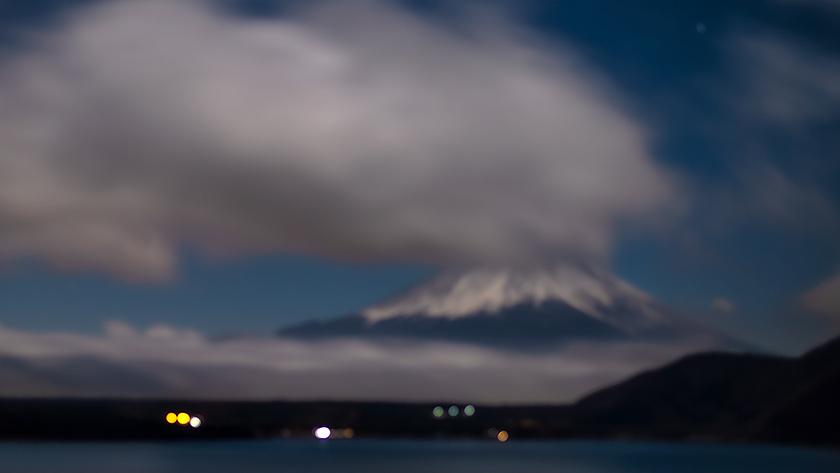 31日夜の富士山