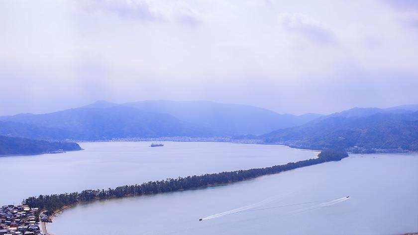 北の展望台から見た天橋立