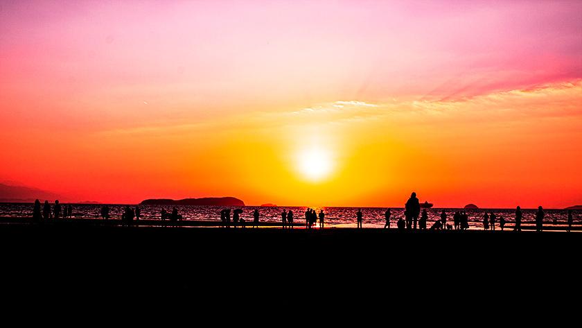 父母ヶ浜の夕日