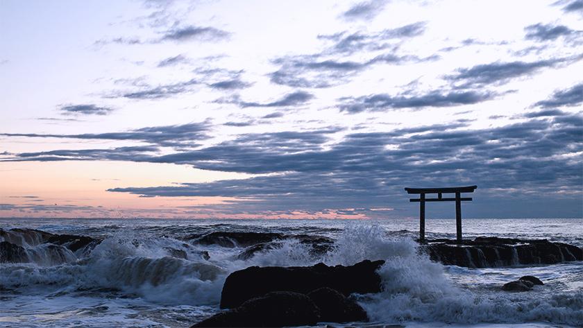 大洗磯先神社の初日の出