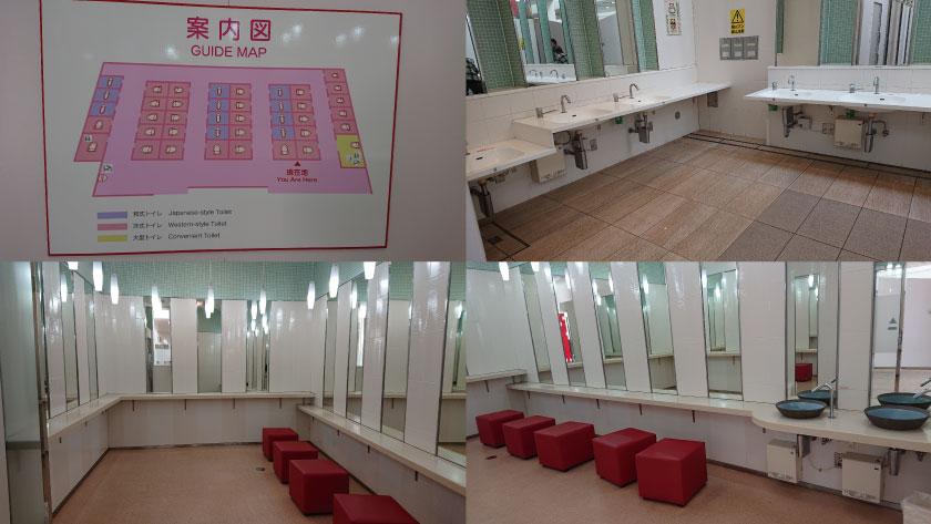 淡路サービスエリア(下り)のメイン女子トイレ