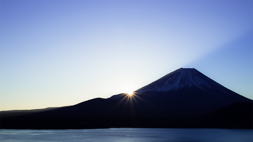 本栖湖の初日の出撮影